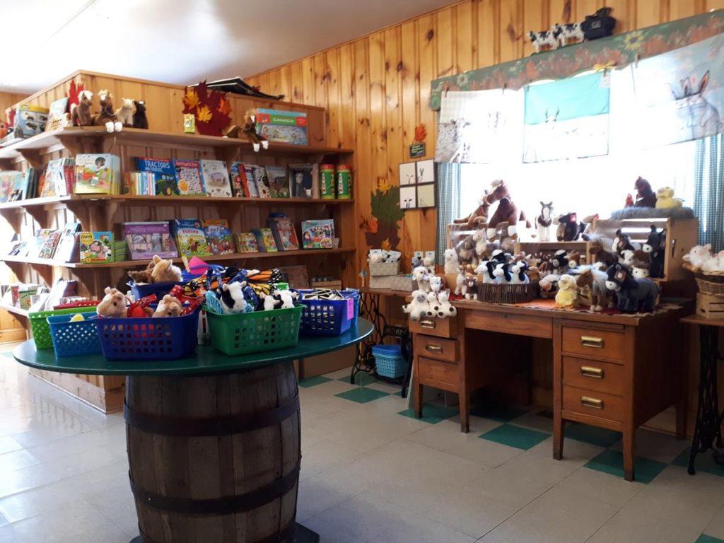 wide shot of gift shop