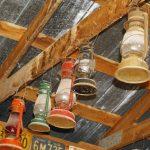 old lanterns hanging