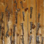 wall covered with tools